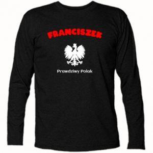 Koszulka z długim rękawem Franciszek jest prawdziwym Polakiem