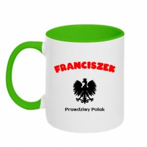 Two-toned mug Franciszek is a real Pole