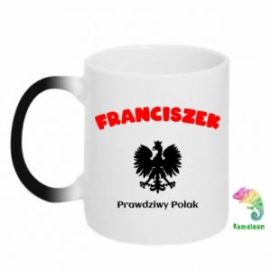 Chameleon mugs Franciszek is a real Pole
