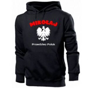 Men's hoodie Nicholas is a real Pole - PrintSalon