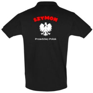 Koszulka Polo Szymon jest prawdziwym Polakiem