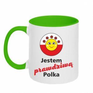 Two-toned mug I am a real Polish woman