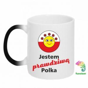 Chameleon mugs I am a real Polish woman