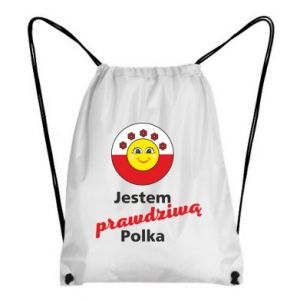 Backpack-bag I am a real Polish woman