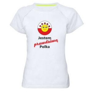 Women's sports t-shirt I am a real Polish woman