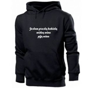 Men's hoodie I am a simple woman - I see wine, I drink wine