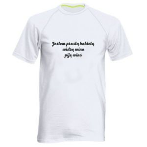 Men's sports t-shirt I am a simple woman - I see wine, I drink wine