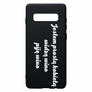 Phone case for Samsung S10+ I am a simple woman - I see wine, I drink wine