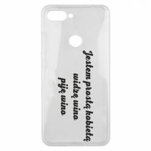 Phone case for Xiaomi Mi8 Lite I am a simple woman - I see wine, I drink wine