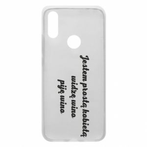 Phone case for Xiaomi Redmi 7 I am a simple woman - I see wine, I drink wine - PrintSalon