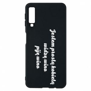 Phone case for Samsung A7 2018 I am a simple woman - I see wine, I drink wine