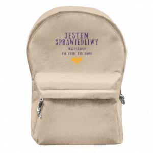 Plecak z przednią kieszenią Jestem sprawiedliwy