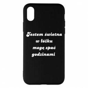 Phone case for iPhone X/Xs I'm great in bed, I can sleep for hours - PrintSalon