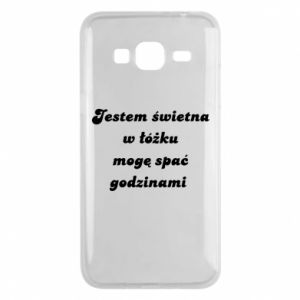Phone case for Samsung J3 2016 I'm great in bed, I can sleep for hours - PrintSalon