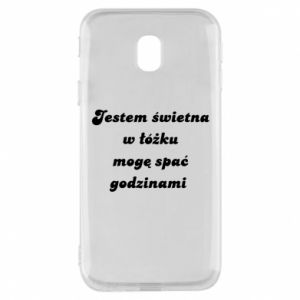 Phone case for Samsung J3 2017 I'm great in bed, I can sleep for hours - PrintSalon