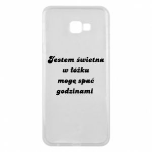 Phone case for Samsung J4 Plus 2018 I'm great in bed, I can sleep for hours - PrintSalon