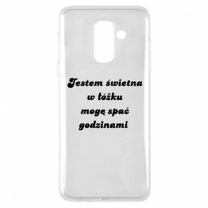 Phone case for Samsung A6+ 2018 I'm great in bed, I can sleep for hours - PrintSalon