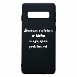 Phone case for Samsung S10 I'm great in bed, I can sleep for hours - PrintSalon