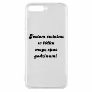 Phone case for Huawei Y6 2018 I'm great in bed, I can sleep for hours - PrintSalon