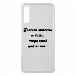 Phone case for Samsung A7 2018 I'm great in bed, I can sleep for hours - PrintSalon