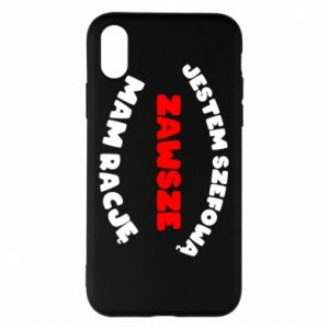 Phone case for iPhone X/Xs I'm the boss, I'm always right - PrintSalon