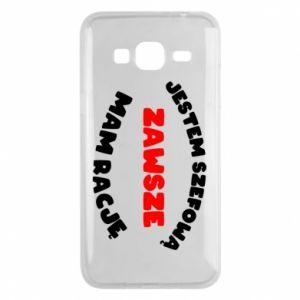 Phone case for Samsung J3 2016 I'm the boss, I'm always right - PrintSalon
