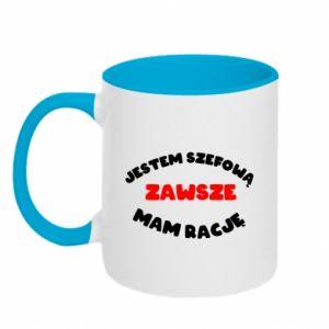 Two-toned mug I'm the boss, I'm always right - PrintSalon