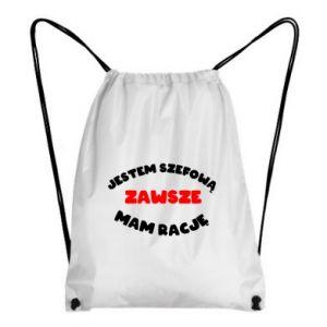 Plecak-worek Jestem szefową zawsze mam rację