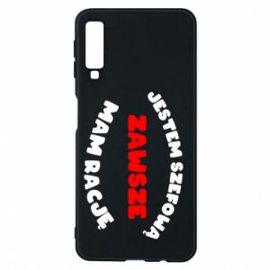 Phone case for Samsung A7 2018 I'm the boss, I'm always right - PrintSalon