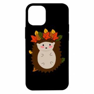 Etui na iPhone 12 Mini Jeż w liściach