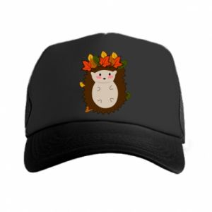 Trucker hat Hedgehog in the leaves
