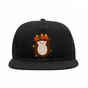 SnapBack Hedgehog in the leaves