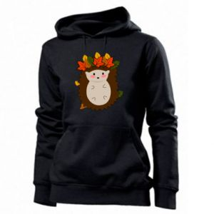 Women's hoodies Hedgehog in the leaves