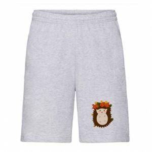 Men's shorts Hedgehog in the leaves