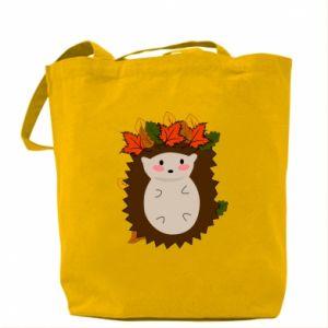 Bag Hedgehog in the leaves