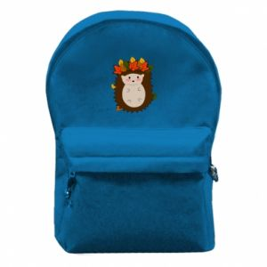 Backpack with front pocket Hedgehog in the leaves