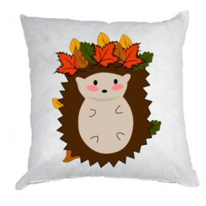 Pillow Hedgehog in the leaves