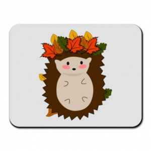 Mouse pad Hedgehog in the leaves