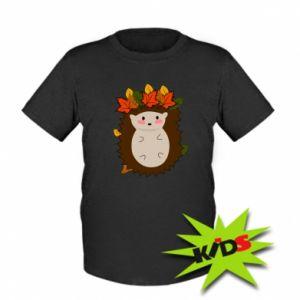 Dziecięcy T-shirt Jeż w liściach