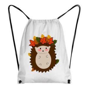 Backpack-bag Hedgehog in the leaves