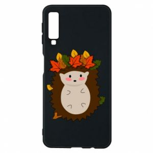 Samsung A7 2018 Case Hedgehog in the leaves
