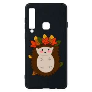 Samsung A9 2018 Case Hedgehog in the leaves