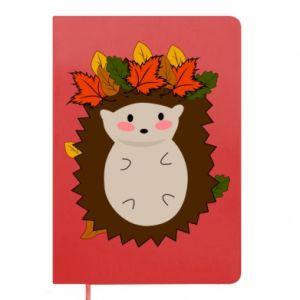 Notepad Hedgehog in the leaves