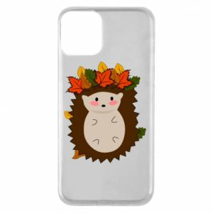 iPhone 11 Case Hedgehog in the leaves