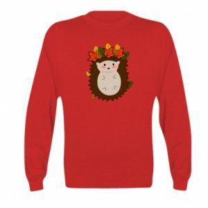 Kid's sweatshirt Hedgehog in the leaves