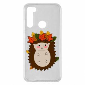 Xiaomi Redmi Note 8 Case Hedgehog in the leaves