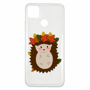 Xiaomi Redmi 9c Case Hedgehog in the leaves