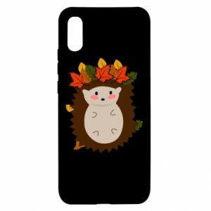 Xiaomi Redmi 9a Case Hedgehog in the leaves