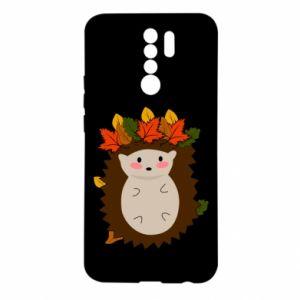 Xiaomi Redmi 9 Case Hedgehog in the leaves