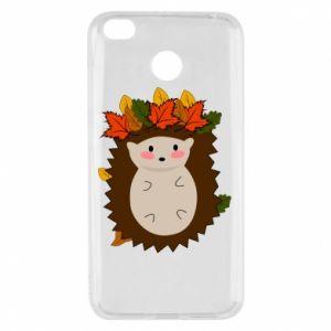 Xiaomi Redmi 4X Case Hedgehog in the leaves